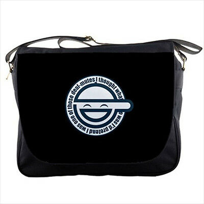 Laughing Man Ghost In The Shell manga messenger bag textbook shoulder sling flap