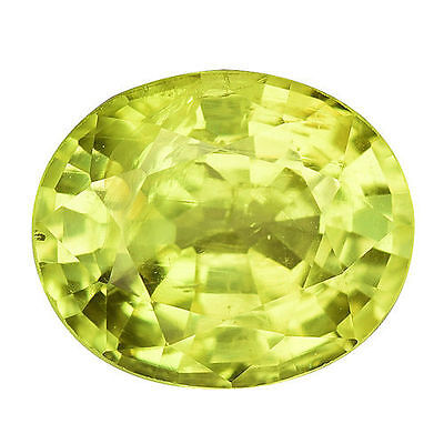 0.915Cts FORMIDABLE TOP LUSTER YELLOW NATURAL CHRYSOBERYL OVAL LOOSE GEMSTONES