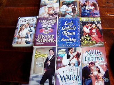 Lot of 10 Harlequin Historical Romance Paperback Books - Never read