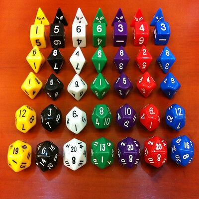 6pc/Set TRPG Games Dungeons & Dragons D4-D20 Multi-sided Dices Play Toy Cool
