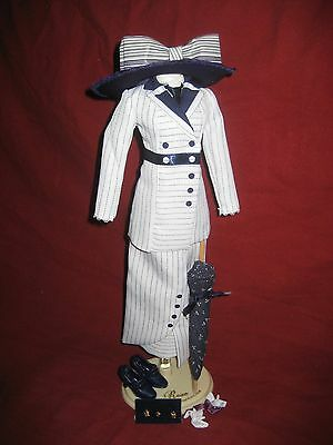 Franklin Mint Titanic Rose Blue wht 'Boarding' Suit Outfit Only for vinyl doll