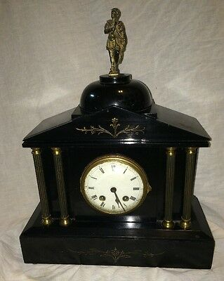 French Slate Or Marble Mantel Clock
