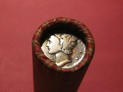 Unsearched Roll Wheat/indian Cent 1931 Dime & 1933-D