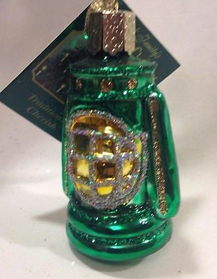 Old World Christmas Ornament - Lantern (Green)