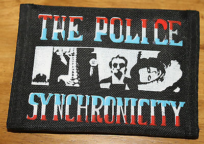 Vintage The Police Synchronicity Wallet Black New