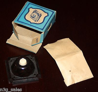 Vintage Eagle Bakelite Square Push Button w Mounting Screws Cat No. 143 Brown