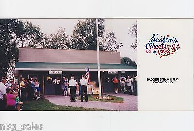 1998 98 Badger Steam & Engine Club Wisconsin Holiday Greeting Card Photograph