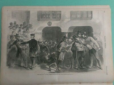 Harper's Weekly 3/21/1863  Gold Panic on Wall street   Prisoners in New Orleans