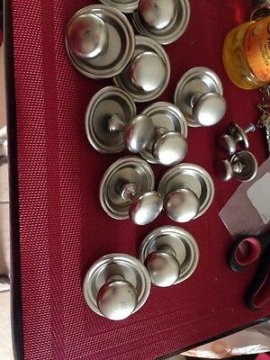 9 Metal Drawer Pulls Nickle With Back Covers