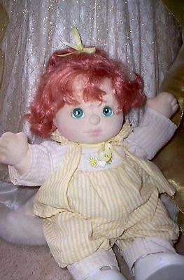 Beautiful Vintage Mattel My Child doll Red hair Original Outfit and diaper