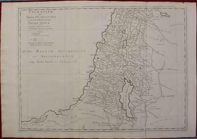 Israel Holy Land 1790 Blair Unusual Antique Original Copper Engraved Map