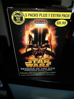 Star Wars Revenge of Sith Widevision Movie Card Boxes only OPENED Vader Obi Wan