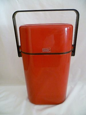 Retro Vintage Decor Wine Bottle Chiller Cooler Carrier Fire Engine Red Insulated