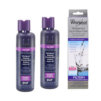 2PK W10295370A 46-9930 EDR1RXD1 Whirlpool Refrigerator Water Filter OEM