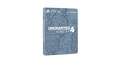 UNCHARTED 4 Steelbook Case (no game)*NEW*
