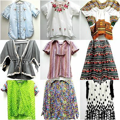 Lot Bulk Vintage clothing Hippie Gypsy Skirt Blouse Vtg Cheap 11 African Ethnic