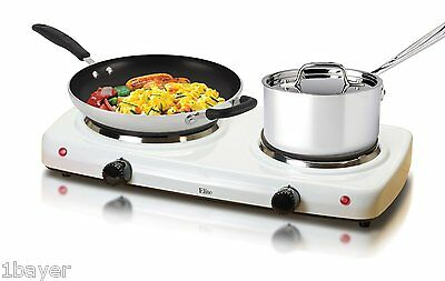 Maxi-Mati Kitchen Cooking Double Hot Plate Portable Electric Burner Cooker