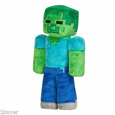 """Minecraft Toy Hobbies Action Game Movie Figure Birth Party 12"""" Zombie Plush"""