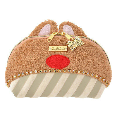 Tokyo Disney Chip & Dale Red Nose Rhinestone Pouch Cosmetic Bag Pooh Dumbo
