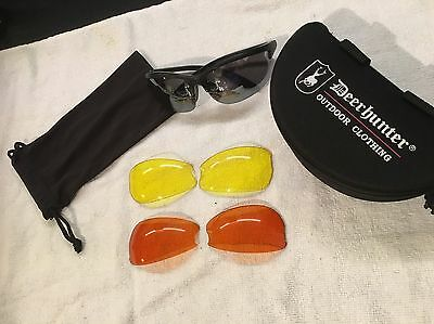 Deerhunter Shooting Glasses with Interchangeable Lenses For All Shooting Weather