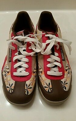 839624c11da9 Reebok Rolland Berry Classic Womens 6.5 Embroidered Brown Red Tan Skater  Shoes