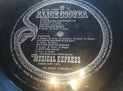 Nme Flexi With Alice Cooper 5Tracksfeb 1973 Lyn 2585  Made In England