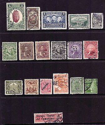 Ecuador Postage Stamp mix from 1893 MLH/used