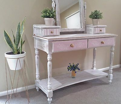 Dressing table or Makeup/ Vanity Mirror Drawers White Hamptons Rustic Vintage