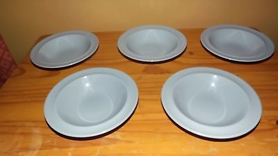 5 Woods Ware Iris pudding/soup dishes