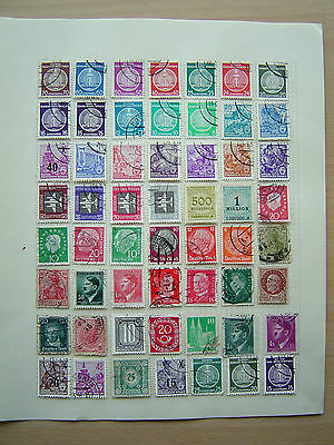 68 German and 54 Hungarian Stamps