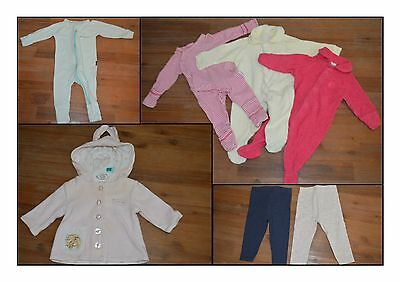 Baby Girl 0000 Mixed Bundle Lot Of Clothes Bonds Onesies (7 Pieces)
