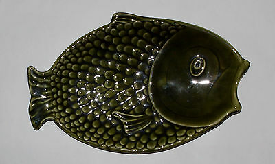 Green Fish Serving Dish Sylvac Mint Beautiful genuine piece Vintage Pottery 4685