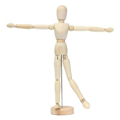 "12"" artist wooden man mamikin mannequin sketch sketching lay figure SI"