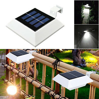 Outdoor Solar Powered LED Gutter Light Garden Yard Fence Pathway Eaves Lamp 264