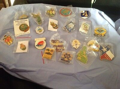Lions Club Pins Badges Mixed Lot