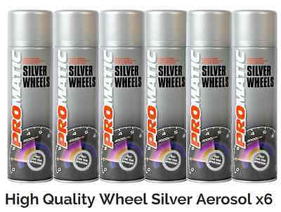 ProMatic Alloy Paint - High Quality Alloy Wheel Silver Spray Paint x6 DEAL Price
