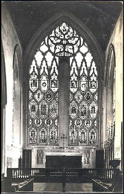 Postcard Dorchester Abbey showing the Window Real photo