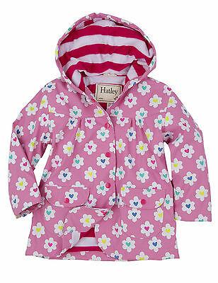 Hatley Raincoat Girls, Flower Heart Garden, Brand New With Tags, Age 5 Yrs