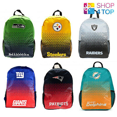 Official Nfl American Football Club Team Backpack Travel School Bag New