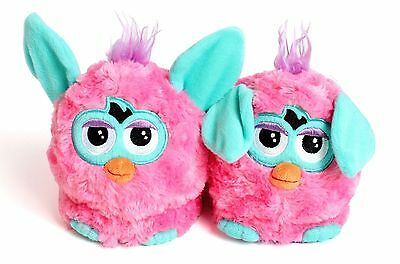 Stompeez Pink Furby Slippers Size XS 7-9 . New
