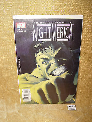 MARVEL COMICS THE INCREDIBLE HULK NIGHTMERICA 3 of 6 LAWS ASHMORE BAGGED BOARDED