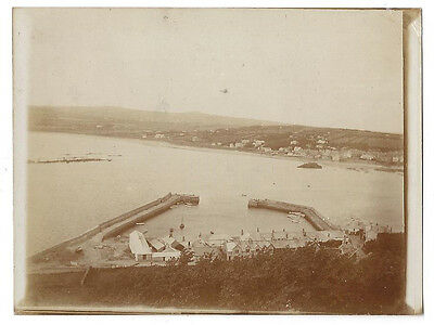 CORNWALL View from St Michaels Mount - Antique Photograph c1905