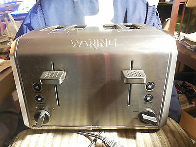 Waring Pro Bagel And Bread Toaster Stainless Wt-400