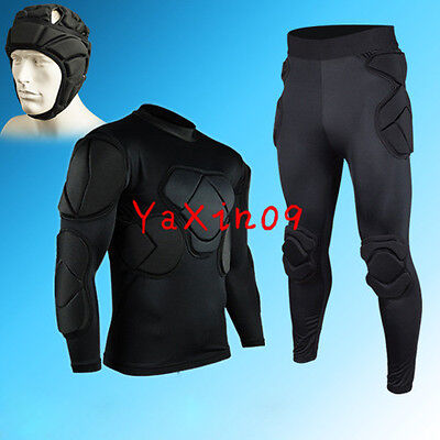 Youth GK Football Goalkeeper Clothing Adult Soccer EVA Padded Jersey Short Pants