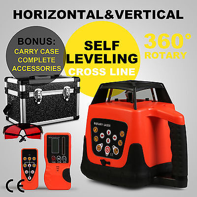 Automatic Red Rotary Laser Level Self-Leveling Measuring Rotating Red Beam