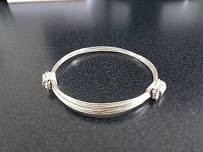 Silver Plated Elephant hair bracelet