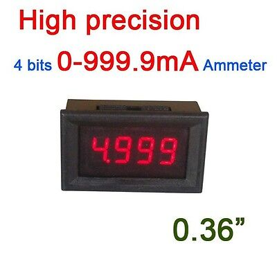 DC 0-1A 99.9mA Digital Ammeter LED AMP Meter Tester Current 5V 12V 24V shunt