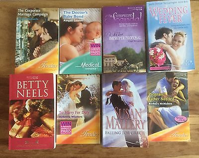 Job Lot Of 8 Mills And Boon Books