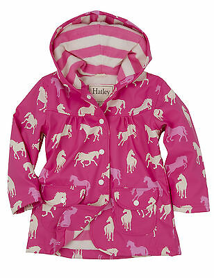 Hatley Raincoat Girls, Pink Horses, Brand New With Tags,  Age 3 & 5 Years