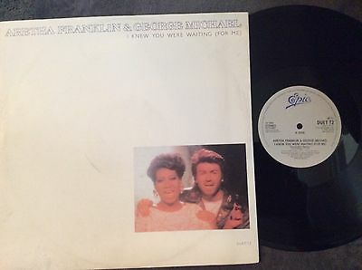 """ARETHA FRANKLIN & GEORGE MICHAEL, knew YOU WERE WAITING, Vinyl 12"""" record"""